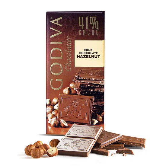 Milk Chocolate Hazelnut Bar, 41% Cocoa, 3.5 oz. image number null