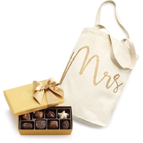 Mrs Tote with Assorted Gold Gift Box, 8 pc.