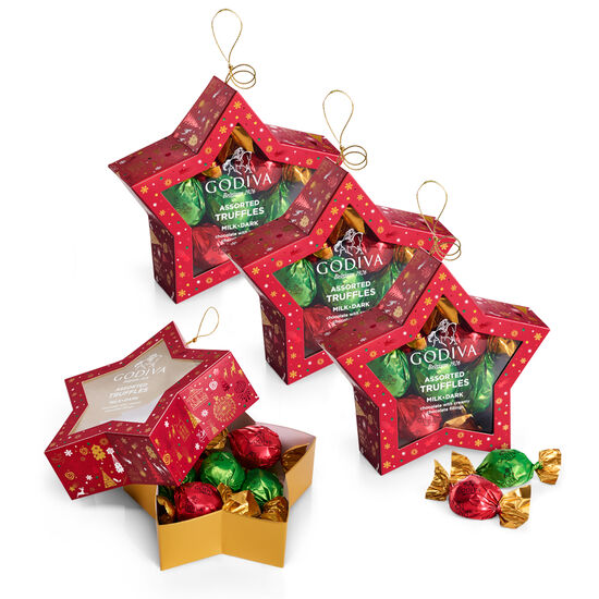Chocolate-Filled Star Ornament, Set of 4, 10 pc. each image number null
