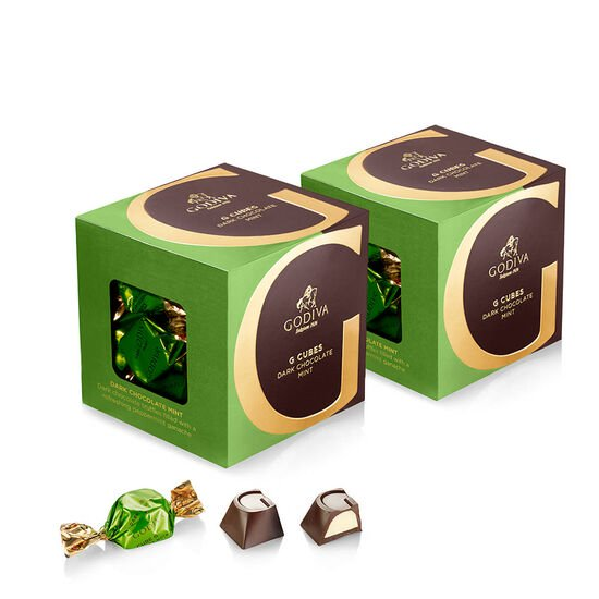 Dark Chocolate Mint G Cube Box, Set of 2, 22 pcs. each image number null