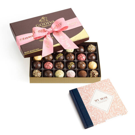 My Mom In Her Own Words Book with Happy Mother's Day Signature Truffles, 24 pc.
