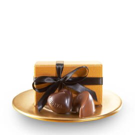 Assorted Chocolate Gold Favor, Black Ribbon, 2 pc.
