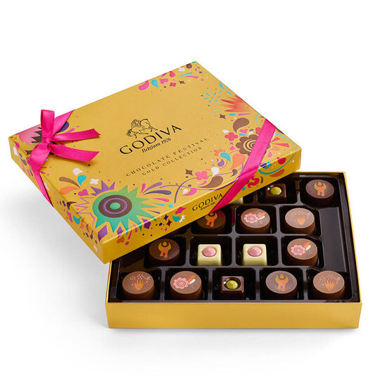 Chocolate Festival Gold Gift Box, 18 pc. image number null
