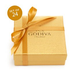 Assorted Chocolate Favor, Gold Ribbon, Set of 24, 4 pc. each