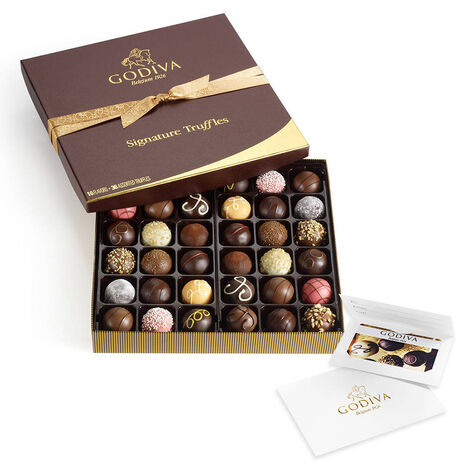 $50 Gift Card & Assorted Chocolate Truffles, 36 pc.