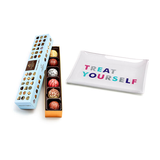 Treat Yourself Tray with Patisserie Dessert Truffle Flight, 6 pc. image number null