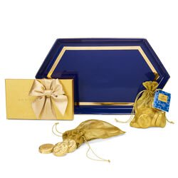 Hanukkah Gift Set with Navy Serving Tray
