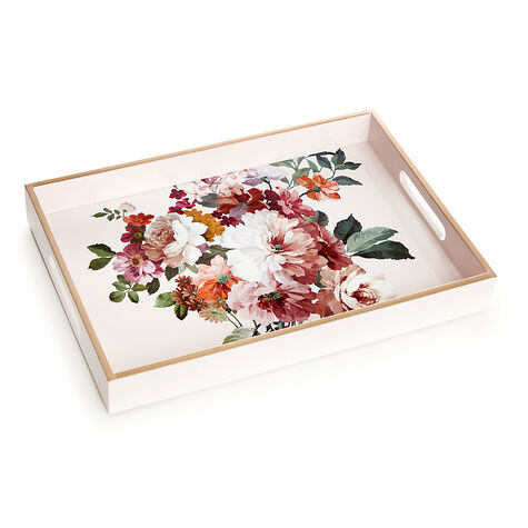 Rose Blush Lacquered Tray with Assorted Gold Gift Box, 19 pc.