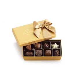 Assorted Chocolate Gold Gift Box, Classic Ribbon, 8 pc.