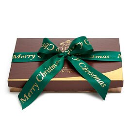Merry Christmas Signature Truffles, Forest Green Ribbon, 24 pc.