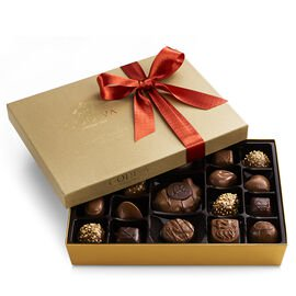 Nut and Caramel Gift Box, Fall Ribbon, 19 pc.