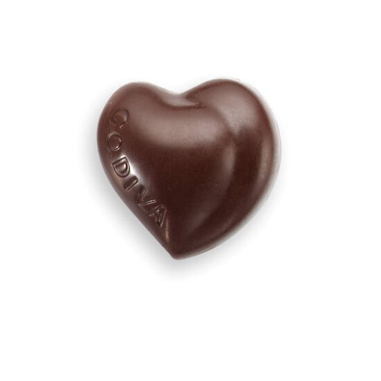 Dark Chocolate Heart with Dark Chocolate Ganache Filling image number null