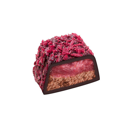 Dark Chocolate Raspberry Truffle Cube image number null